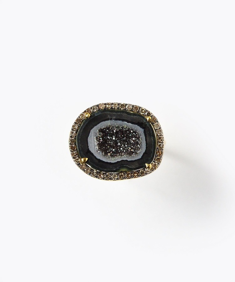[elafonisi] Christmas limited geode pave diamond ring