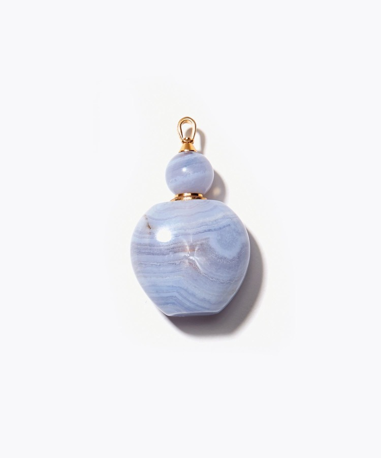 [eutopia]blue lace agate perfume bottle charm