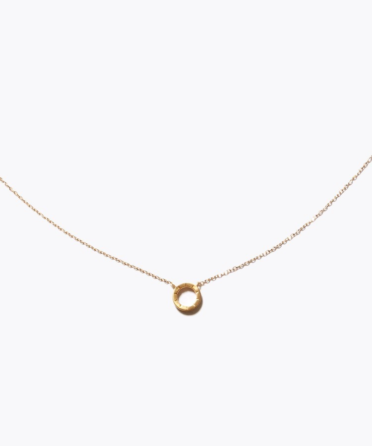 [sirocco] K18 halo mini circle necklace