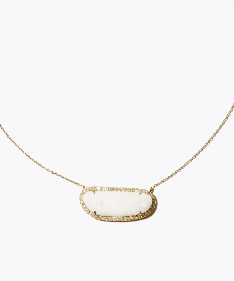 [elafonisi] Christmas limited Spencer opal pave diamonds necklace