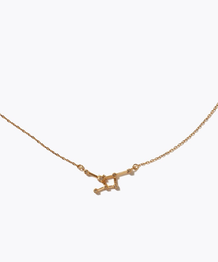[constellation] cancer K10 diamond line necklace