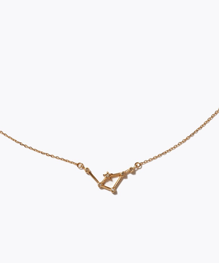 [constellation] libra K10 diamond line necklace