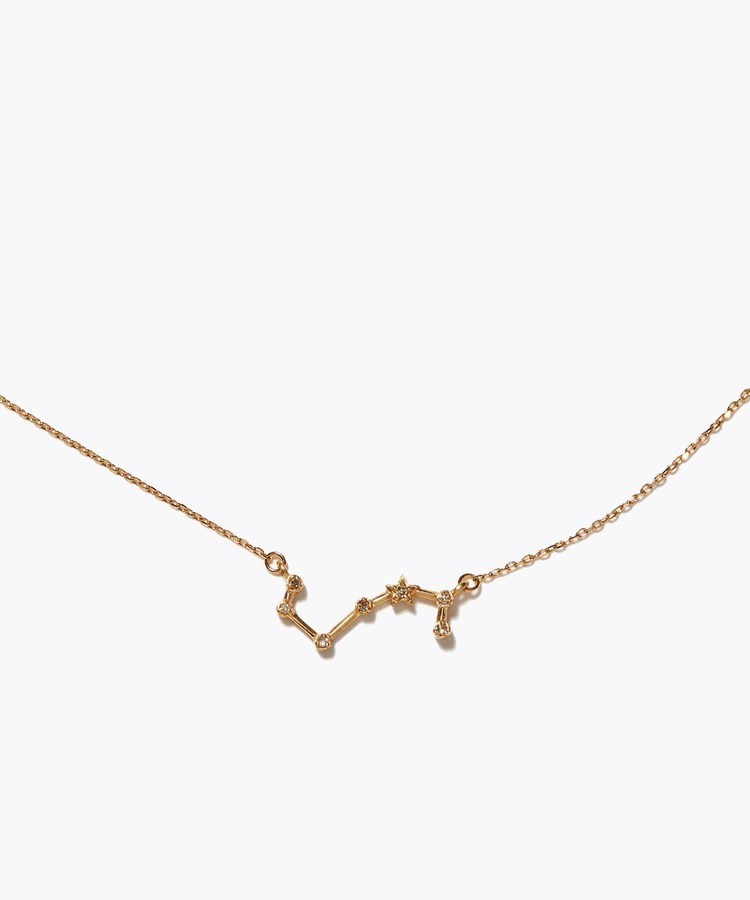 [constellation] scorpio K10 diamond line necklace