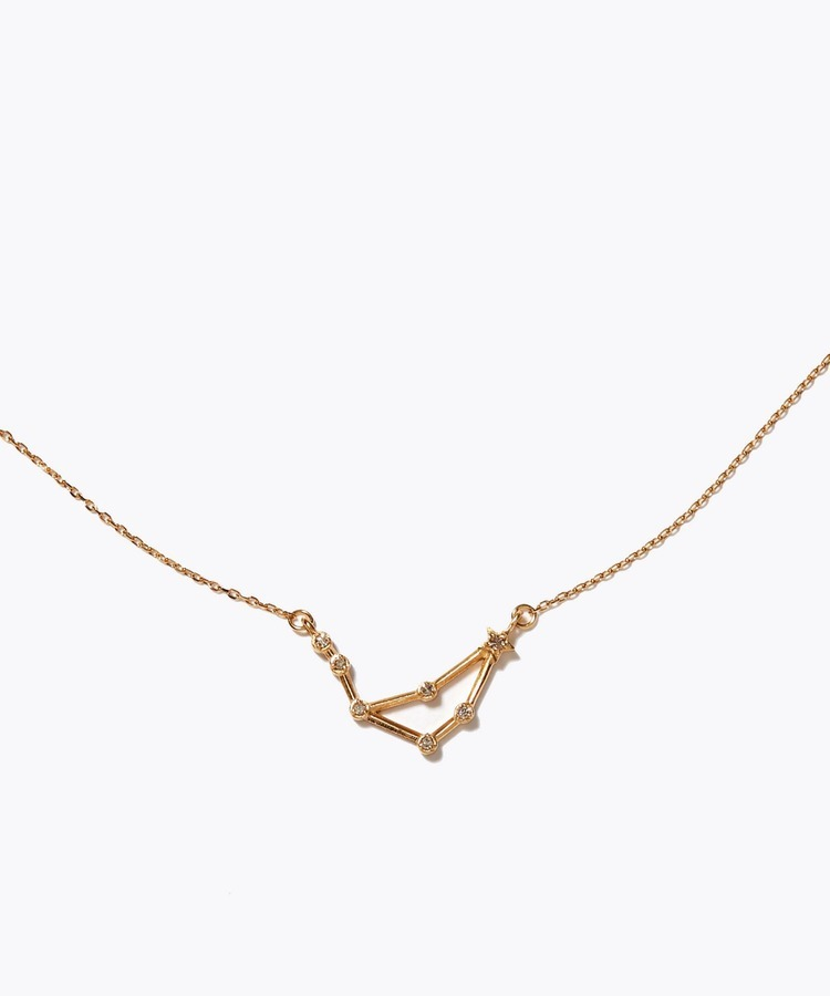 [constellation] aquarius K10 diamond line necklace