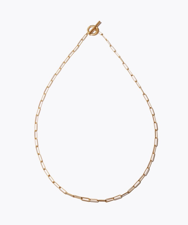 [cord] big cable chain toggle necklace