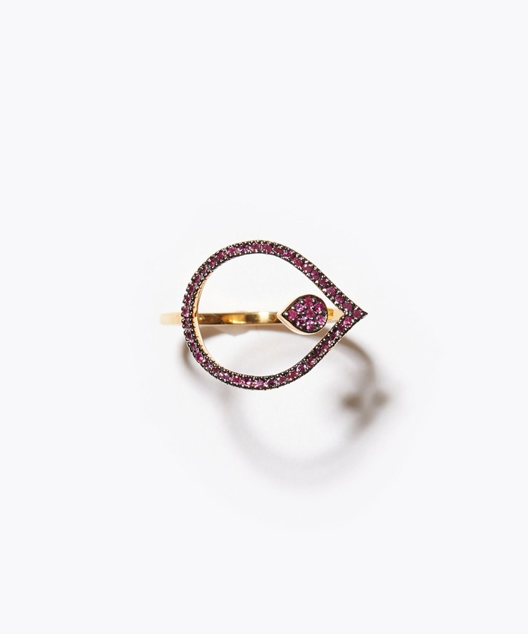 [lotus] International Girls' Day Special - flower ruby ring