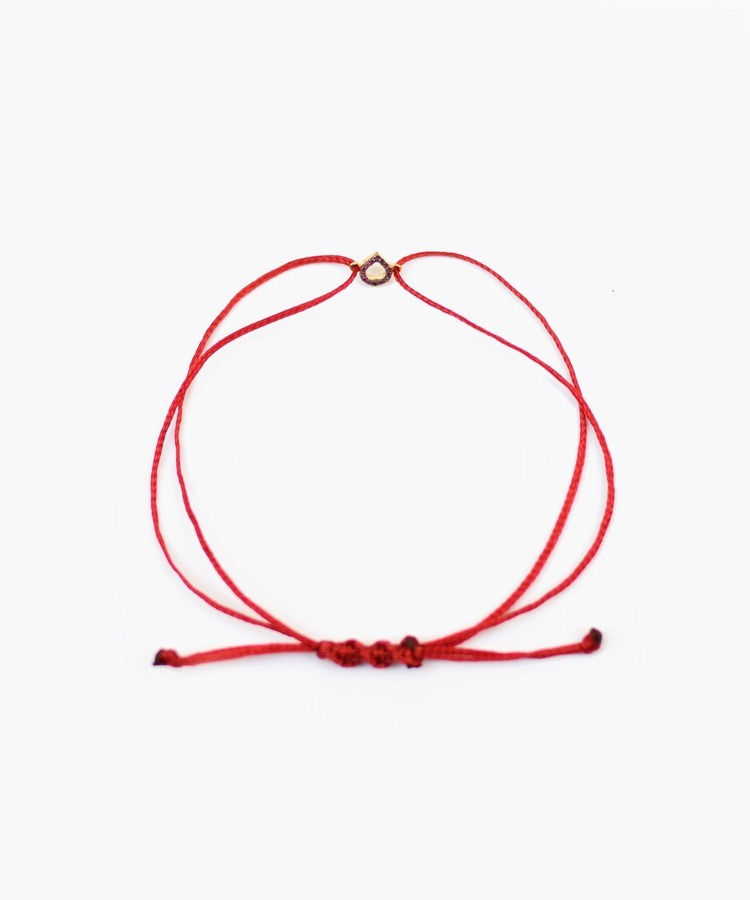 [I am donation] International Girls' Day Special - lotus petit petal ruby bracelet