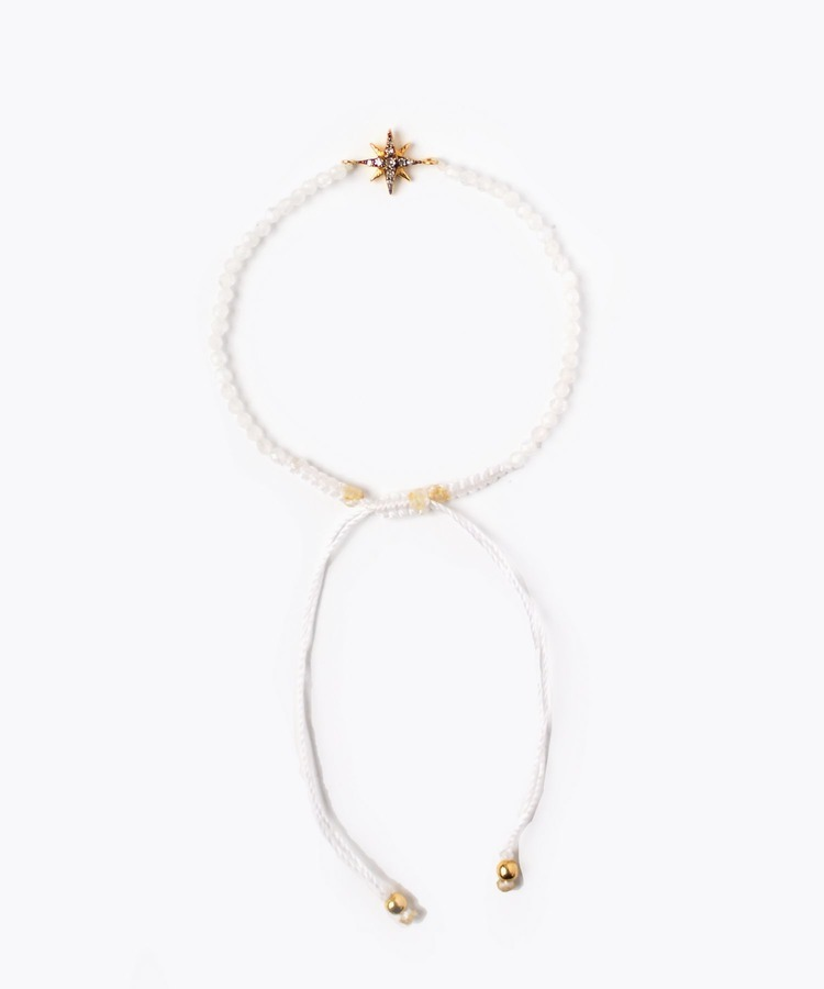[I am donation] Christmas limited pave star rainbow moonstone limited bracelet