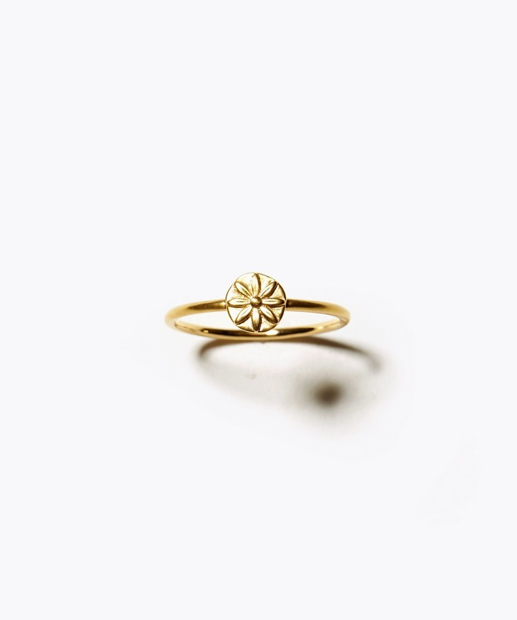 [anise] K10 anise coin ring