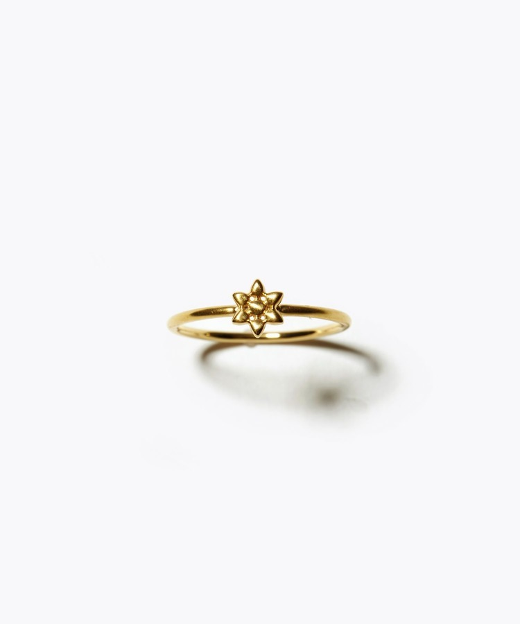 [anise] K10 petit rose ring