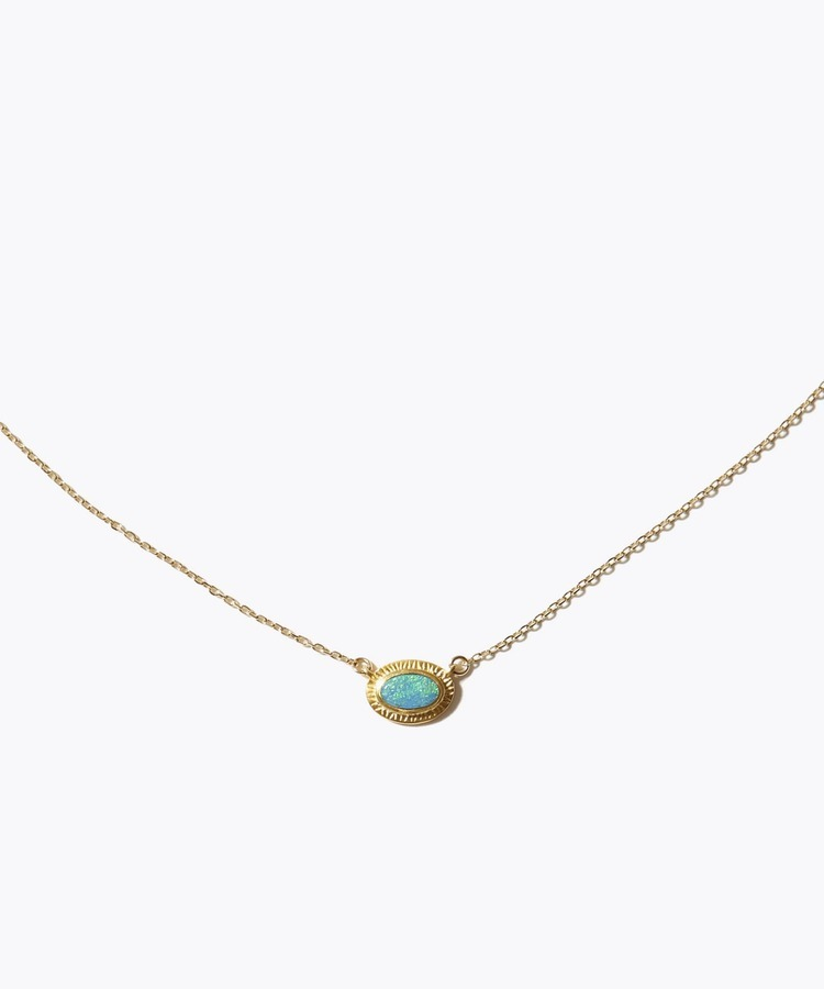 [eutopia] 【2021Spring Limited】 K10 boulder opal ancient texture necklace