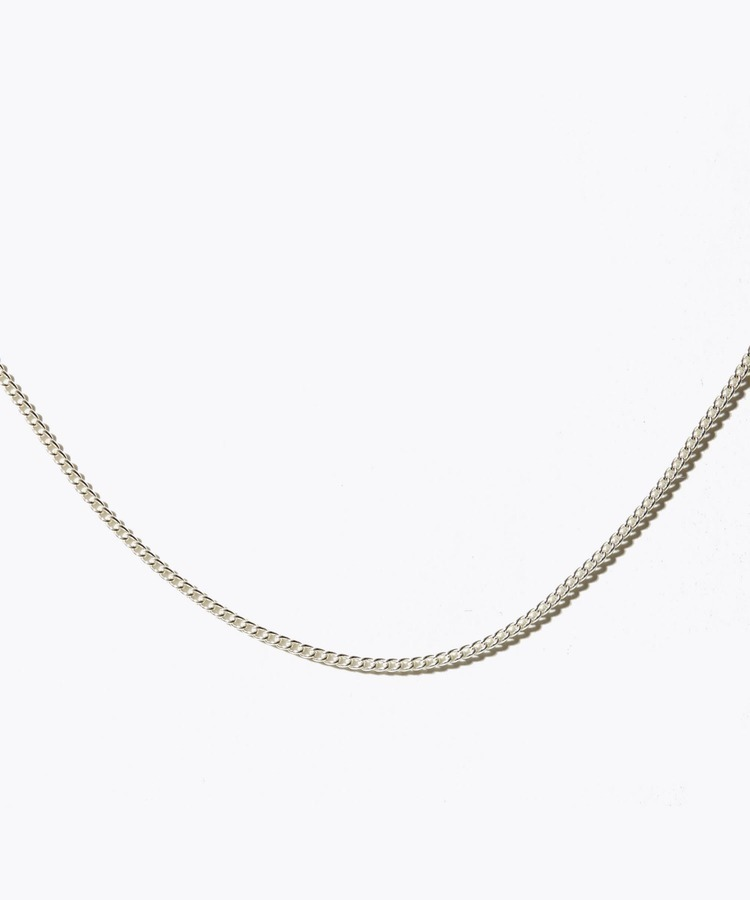 [ancient] silver curved chain 60cm necklace