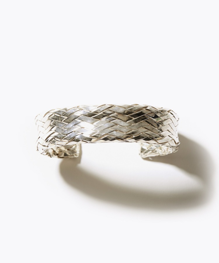 [ancient] unisex weaved silver bangle