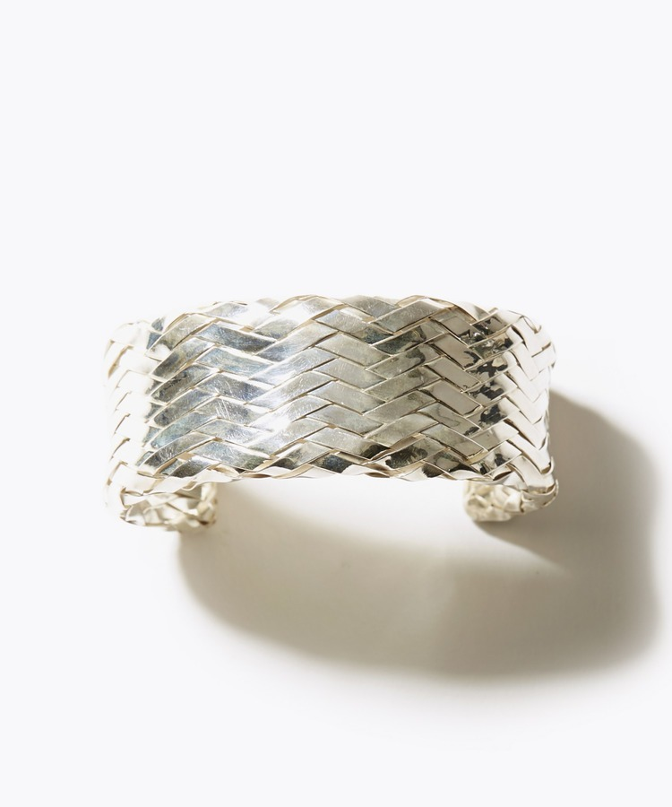 [ancient] weaved silver bangle