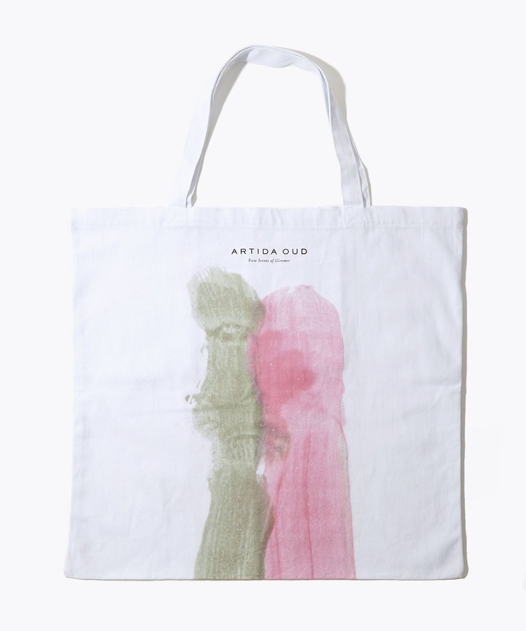 [artworks] Audrey Fondecave×ARTIDA OUD T 05 watermelon L size organic cotton tote bag