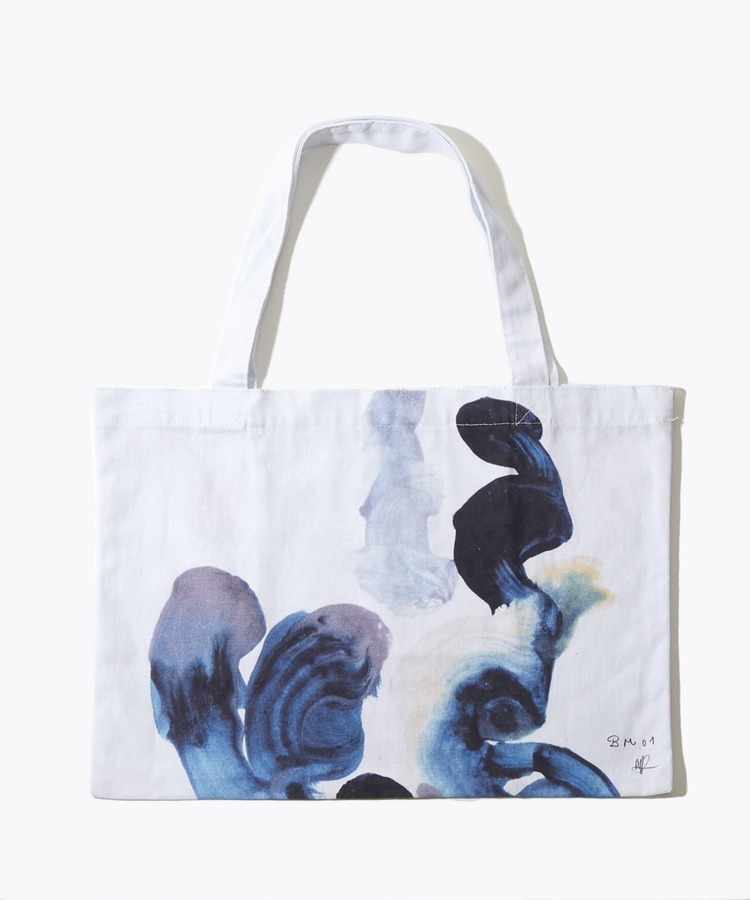 [artworks] Audrey Fondecave×ARTIDA OUD BM 01 blue malachite M size organic cotton tote bag