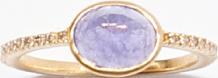 K18 タンザナイト パヴェダイヤモンドRing